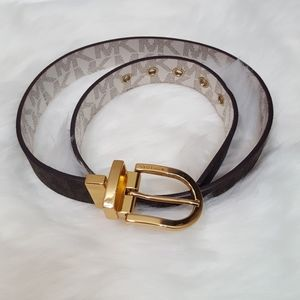 NWOT Michael Kors Reversible White And Brown Belt